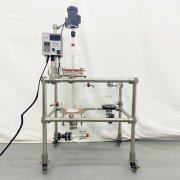 5L固相玻璃反應釜帶收集裝置