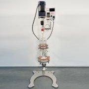 500ml固相合成玻璃反應釜不銹鋼法蘭連接